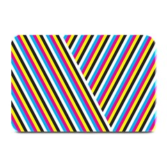 Lines Chevron Yellow Pink Blue Black White Cute Plate Mats