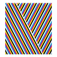 Lines Chevron Yellow Pink Blue Black White Cute Shower Curtain 66  X 72  (large)  by Mariart