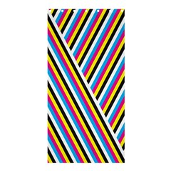 Lines Chevron Yellow Pink Blue Black White Cute Shower Curtain 36  X 72  (stall)