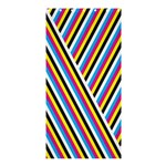 Lines Chevron Yellow Pink Blue Black White Cute Shower Curtain 36  x 72  (Stall)  33.26 x66.24 Curtain