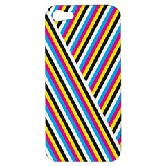 Lines Chevron Yellow Pink Blue Black White Cute Apple Iphone 5 Hardshell Case by Mariart