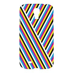 Lines Chevron Yellow Pink Blue Black White Cute Samsung Galaxy S4 I9500/i9505 Hardshell Case by Mariart