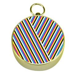 Lines Chevron Yellow Pink Blue Black White Cute Gold Compasses by Mariart