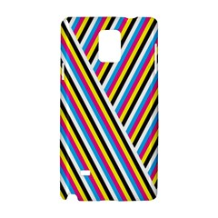 Lines Chevron Yellow Pink Blue Black White Cute Samsung Galaxy Note 4 Hardshell Case by Mariart