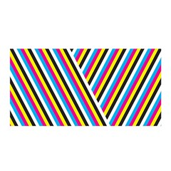 Lines Chevron Yellow Pink Blue Black White Cute Satin Wrap by Mariart