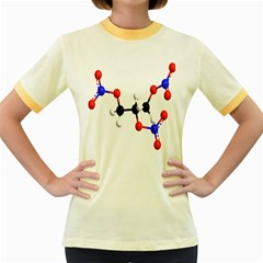 Nitroglycerin Lines Dna Women s Fitted Ringer T Shirts