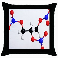Nitroglycerin Lines Dna Throw Pillow Case (black) by Mariart