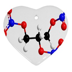 Nitroglycerin Lines Dna Heart Ornament (two Sides)