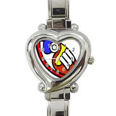 Pedernal Art Circle Sign Heart Italian Charm Watch by Mariart