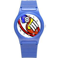 Pedernal Art Circle Sign Round Plastic Sport Watch (s) by Mariart