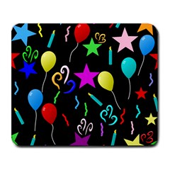 Party Pattern Star Balloon Candle Happy Large Mousepads by Mariart