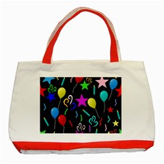 Party Pattern Star Balloon Candle Happy Classic Tote Bag (red) by Mariart