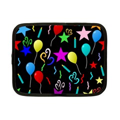 Party Pattern Star Balloon Candle Happy Netbook Case (small)  by Mariart