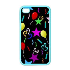 Party Pattern Star Balloon Candle Happy Apple Iphone 4 Case (color) by Mariart