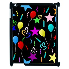 Party Pattern Star Balloon Candle Happy Apple Ipad 2 Case (black) by Mariart