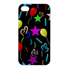 Party Pattern Star Balloon Candle Happy Apple Iphone 4/4s Hardshell Case by Mariart