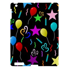 Party Pattern Star Balloon Candle Happy Apple Ipad 3/4 Hardshell Case by Mariart