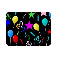 Party Pattern Star Balloon Candle Happy Double Sided Flano Blanket (mini)  by Mariart