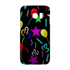 Party Pattern Star Balloon Candle Happy Galaxy S6 Edge by Mariart