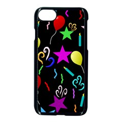 Party Pattern Star Balloon Candle Happy Apple Iphone 7 Seamless Case (black) by Mariart