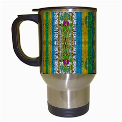 Rainbows Rain In The Golden Mangrove Forest Travel Mugs (white) by pepitasart
