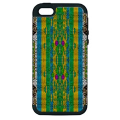 Rainbows Rain In The Golden Mangrove Forest Apple Iphone 5 Hardshell Case (pc+silicone) by pepitasart