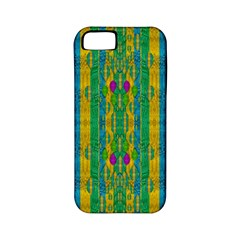 Rainbows Rain In The Golden Mangrove Forest Apple Iphone 5 Classic Hardshell Case (pc+silicone) by pepitasart