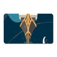 Planetary Resources Exploration Asteroid Mining Social Ship Magnet (rectangular) by Mariart