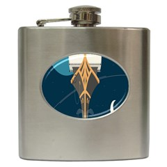 Planetary Resources Exploration Asteroid Mining Social Ship Hip Flask (6 Oz) by Mariart