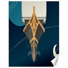 Planetary Resources Exploration Asteroid Mining Social Ship Canvas 18  X 24   by Mariart