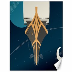 Planetary Resources Exploration Asteroid Mining Social Ship Canvas 36  X 48   by Mariart