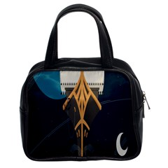 Planetary Resources Exploration Asteroid Mining Social Ship Classic Handbags (2 Sides)