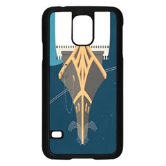 Planetary Resources Exploration Asteroid Mining Social Ship Samsung Galaxy S5 Case (black) by Mariart