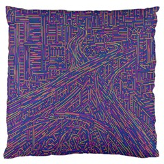 Infiniti Line Building Street Line Illustration Large Flano Cushion Case (one Side) by Mariart