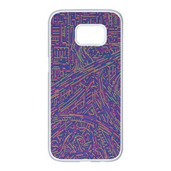 Infiniti Line Building Street Line Illustration Samsung Galaxy S7 Edge White Seamless Case by Mariart