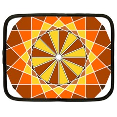Ornaments Art Line Circle Netbook Case (large) by Mariart