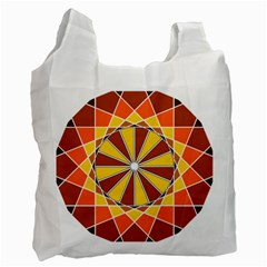 Ornaments Art Line Circle Recycle Bag (one Side) by Mariart