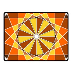 Ornaments Art Line Circle Fleece Blanket (small) by Mariart