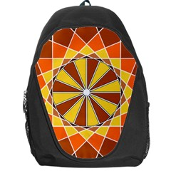 Ornaments Art Line Circle Backpack Bag by Mariart