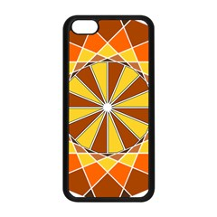Ornaments Art Line Circle Apple Iphone 5c Seamless Case (black) by Mariart