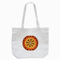 Ornaments Art Line Circle Tote Bag (white) by Mariart