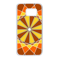 Ornaments Art Line Circle Samsung Galaxy S7 White Seamless Case by Mariart