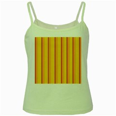 Red Orange Lines Back Yellow Green Spaghetti Tank