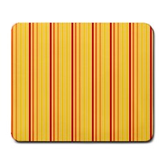 Red Orange Lines Back Yellow Large Mousepads by Mariart