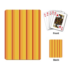 Red Orange Lines Back Yellow Playing Card by Mariart