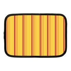 Red Orange Lines Back Yellow Netbook Case (medium)  by Mariart