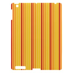 Red Orange Lines Back Yellow Apple Ipad 3/4 Hardshell Case by Mariart