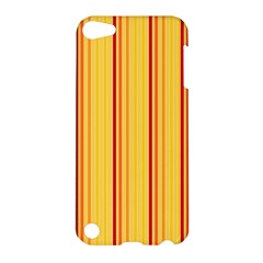 Red Orange Lines Back Yellow Apple Ipod Touch 5 Hardshell Case by Mariart