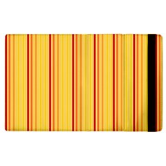 Red Orange Lines Back Yellow Apple Ipad 2 Flip Case by Mariart