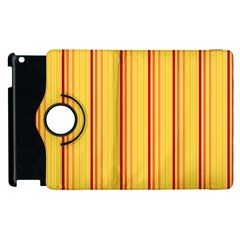 Red Orange Lines Back Yellow Apple Ipad 3/4 Flip 360 Case by Mariart